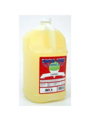 Winco 72004 Benchmark1 Gallon of Snow Cone Syrup - Lemon