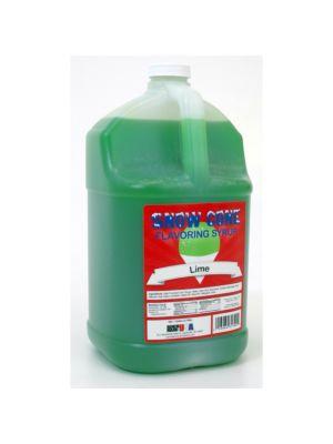 Winco 72005 Benchmark 1 Gallon of Snow Cone Syrup - Lime
