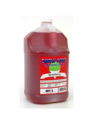 Winco 72006 Benchmark 1 Gallon of Snow Cone Syrup - Strawberry