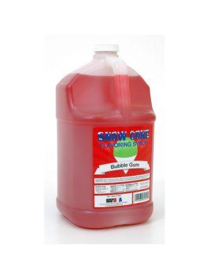 Winco 72008 Benchmark 1 Gallon of Snow Cone Syrup - Bubble Gum