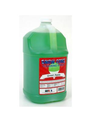 Winco 72009 Benchmark 1 Gallon of Snow Cone Syrup - Green Apple