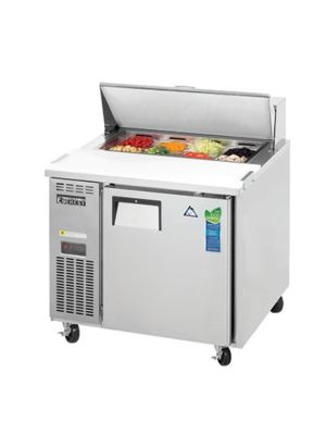 "Everest EPR1-24 Single Door Side-Mount Sandwich Prep Table 35.5"" - 6.0 Cu. Ft. Capacity  FREE SHIPPING W/O LIFTGATE"
