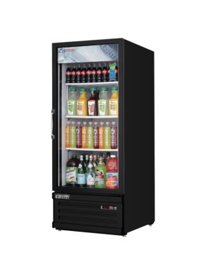 Everest EMGR10B Reach-In Glass Door Merchandiser Refrigerator- BLACK-  FREE SHIPPING WITH LIFT GATE!