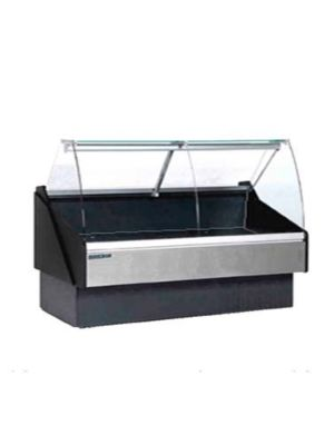 MVP Group KFM-CG-100-S Hydra Kool Red Meat/Deli Curved Front Display Case - 101-1/5""