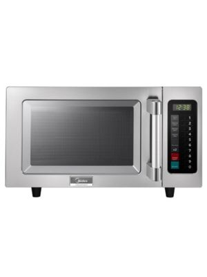 Midea 1025F1A 1000 Watt Commercial Microwave Oven with Touch Control Pad - 0.9 Cu. Ft. Capacity