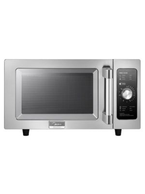 Midea 1025F0A 1000 Watt Commercial Microwave Oven with Dial Timer - 0.9 Cu. Ft. Capacity