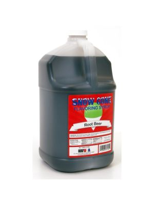 Winco 72010 Benchmark  1 Gallon of Snow Cone Syrup - Root Beer