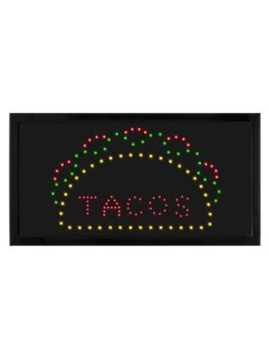 """Alpine ALP497-11 19""""W x 10""""H LED Wall Mount """"Taco"""" Sign with Hanging Chain"""