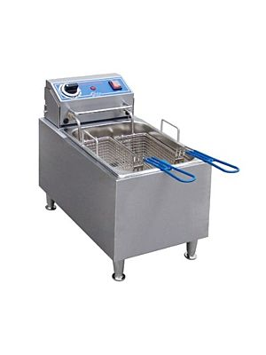 Globe PF16E Electric Countertop Fryer 16 Lb. Oil Capacity - 208V