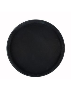 "Winco TFG-14K Black 14"" Diameter Non-Slip Serving Tray"