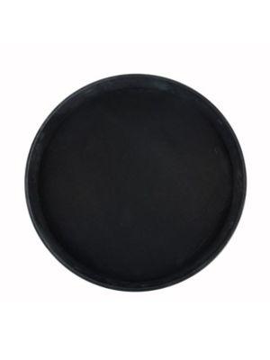 "Winco TFG-11K Black 11"" Diameter Non-Slip Serving Tray"