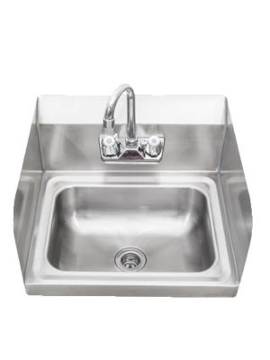 """Sapphire SMHS-01-D 17""""W Wall Mounted Hand Sink with Left & Right Splash Guard - 5 1/2"""" Bowl Depth"""