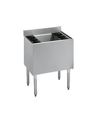 "Krowne 18-30DP-7 Standard 1800 Series 30"" Stainless Steel Underbar Ice Bin with Built-In 7-Circuit Cold Plate"