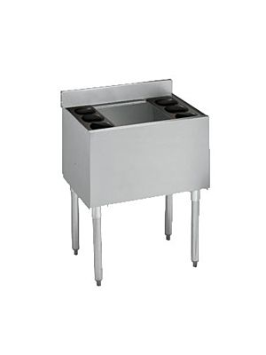 "Krowne 18-30-7 Standard 1800 Series 30"" Stainless Steel Underbar Ice Bin Built-In 7-Circuit Cold Plate"