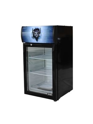Bison BRM-1.41  Countertop Glass Door Reach-In Refrigerator Merchandiser 1.41 cu. ft.