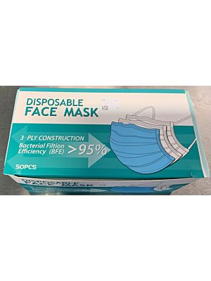 FDA Approved 3-Ply Face Mask - 50 per box
