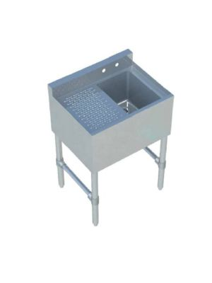 """Sapphire SMBS-1L 24"""" One Compartment Underbar Sink with 12"""" Left Drainboard"""