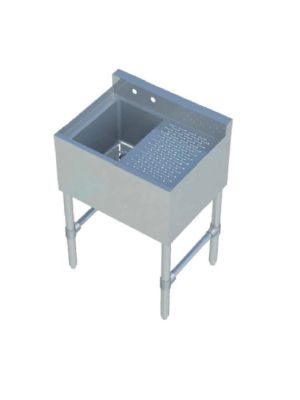 """Sapphire SMBS-1R 24"""" One Compartment Underbar Sink with 12"""" Right Drainboard"""