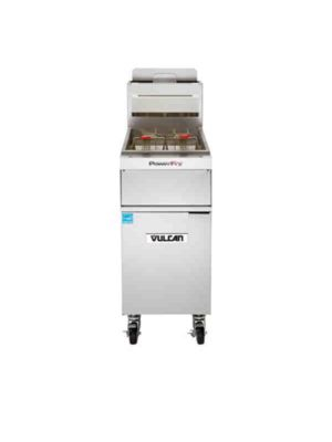 Vulcan 1TR45A-1 PowerFry3™ Gas Fryer, 45 - 50 lbs. Capacity, Natural Gas - Free Shipping Without Liftgate!