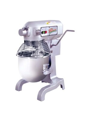 MVP Group Primo PM-20 20 Quart Planetary Mixer w/ Bowl, Bowl Guard Flat Beater, Wire Whip, Dough Hook, 120V
