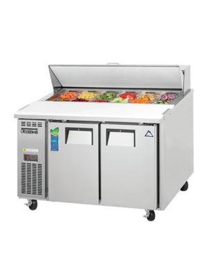 "Everest EPR2-24 Dual Door Side-Mount Sandwich Prep Table 47.5"" - 9.0 Cu. Ft. Capacity  FREE SHIPPING W/O LIFTGATE"