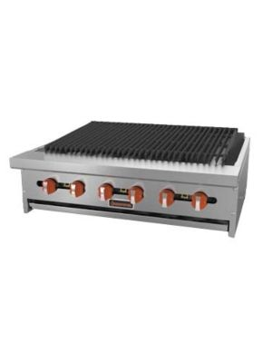 """MVP Group Sierra SRRB-24 24""""W 4 Burner Gas Countertop Radiant Charbroiler - 64,000 BTU"""