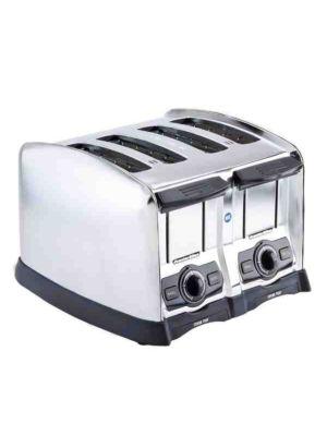 "Hamilton Beach Proctor Silex 24850 4 Slice Commercial Toaster 1 1/2"" Wide Slots"