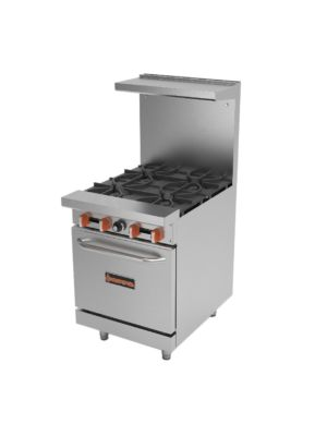 "MVP Group Sierra SR-4-24  24"" Gas Restaurant Range with 4 Open Burners with Oven - 152,000 BTU"