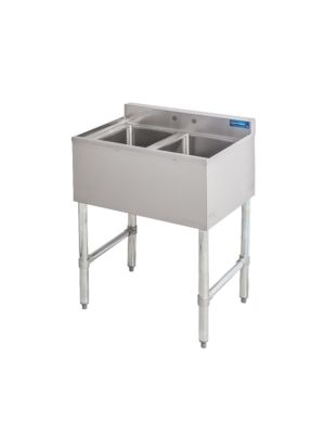 """Sapphire SMBS-2 26"""" Two Compartment Underbar Sink"""