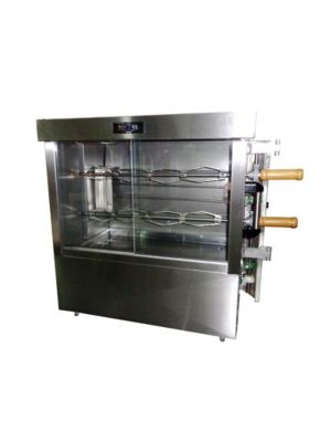 Ampto FRE2VE Commercial 8 Chicken Capacity Rotisserie Electric Oven Machine - 220V