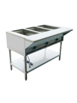 "Copper Beech CBEST-3-S 48""W Three (3) Well Electric Steam Table - 120V/1PH"
