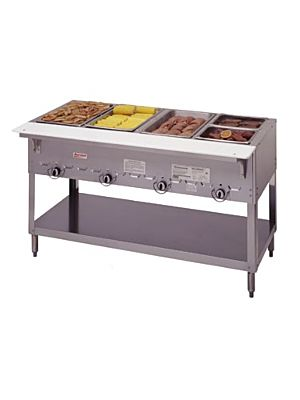 "Duke Aerohot 304 Four (4) Well 58 3/8""W Gas Steam Table – 10,000 BTU"