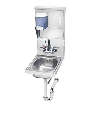 """Krowne HS-31 13""""W Wall Mounted Hand Sink with Soap & Towel Dispenser"""