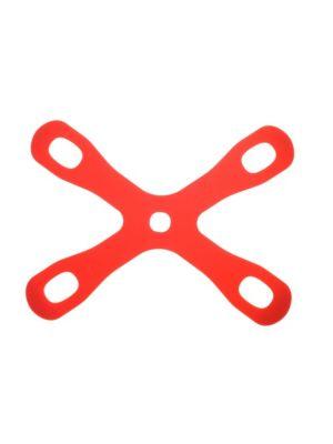 """Mercer Culinary M18931 11-3/8"""" x 8-5/8"""" Red Silicone Board Buddyz Cutting Board Holder"""