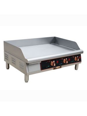 "Copper Beech CBETG-36 36"" Wide Electric Countertop Manual Control Griddle -208/240 3 PH"