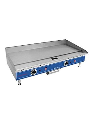 """Globe PG36E 36"""" Electric Countertop Thermostat Control Griddle - 3/8"""" Thick Plate"""
