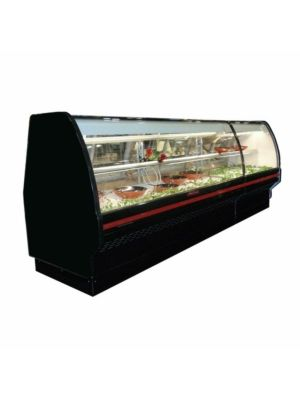 """Howard McCray SC-CDS40E-4C-BE-LED Curved Glass Deli Display Case 51"""" (Black)"""