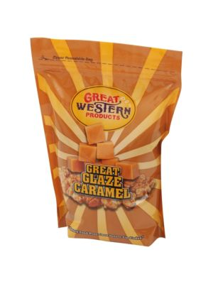 Winco 40021 Benchmark 28oz Bag of Caramel Popcorn Glaze