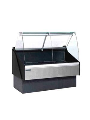 MVP Group KFM-CG-40-S Hydra Kool Red Meat/Deli Curved Front Display Case - 40-3/8""
