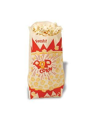 "Winco 41003 Benchmark 1000 Popcorn Paper Bags - 5-1/4""W x 5-1/4""D x 12""H"