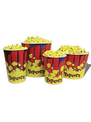 Winco 41432 Benchmark 50 Count 32oz Popcorn Tub