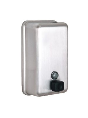 Alpine 423-SSB 40oz. Stainless Steel Vertical Wall Mount Manual Soap Dispenser (FREE SHIPPING)