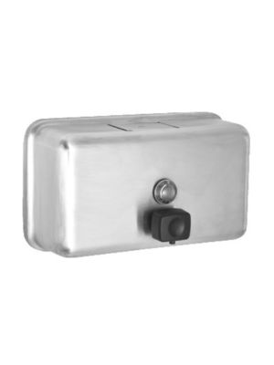 Alpine 424-SSB 40oz. Stainless Steel Horizontal Wall Mount Manual Soap Dispenser (FREE SHIPPING)