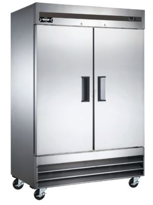 "Bison XRF-46 X Series 54""W Two Door Stainless Reach-In Freezer - 46 Cu. Ft"
