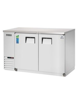 "Everest EBB48-SS Double Door Stainless Steel Back Bar Cooler 48"" - FREE SHIPPING WITH LIFT GATE!"