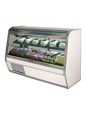 "Howard McCray SC-CDS32E-4C-LED Curved Glass Deli Display Case 50"" (White)"