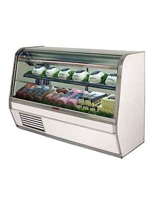 "Howard McCray SC-CDS32E-6C-LED Curved Glass Deli Display Case 74"" (White)"