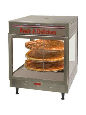 "Benchmark USA 51018 Countertop Pizza/Pretzel Warmer Display - 18"" - 120V"