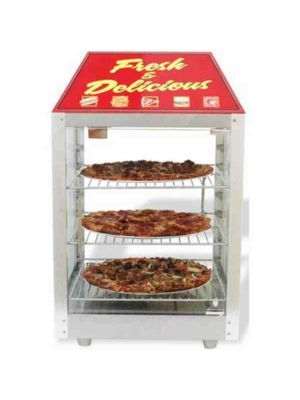 Benchmark 51040 2 Door Food Display Warmer & Merchandiser w/ 3 Shelves, 120V