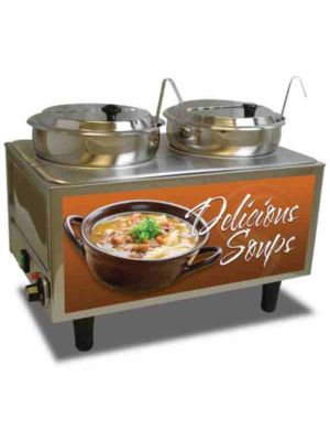 Benchmark USA 51072S Dual Well Soup Warmer, 120V